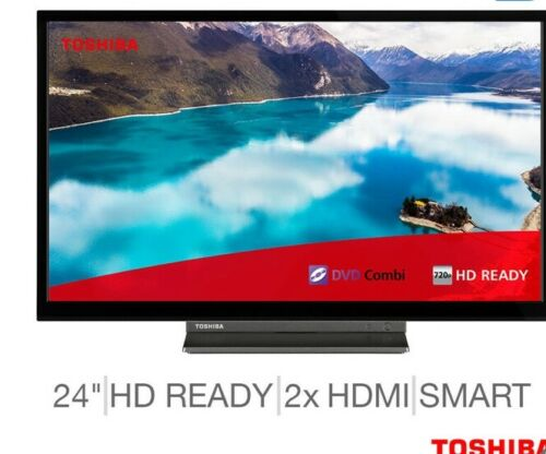 Toshiba 24WD3A63DB 24 Inch HD Ready Smart TV with Built-in DVD Player [cc]